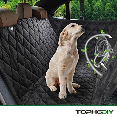 """TOPHGDIY Auto Kofferraumschutz Kofferraum Decke mit Seitenschutz für Hunde, Auto-schondecke Hundeschutzdecke für Hunde Autodecke Wasserdicht, Super Weich Rutschfest Hunde-Decke für alle Automodell - Universalgröße 57""""x53"""""""