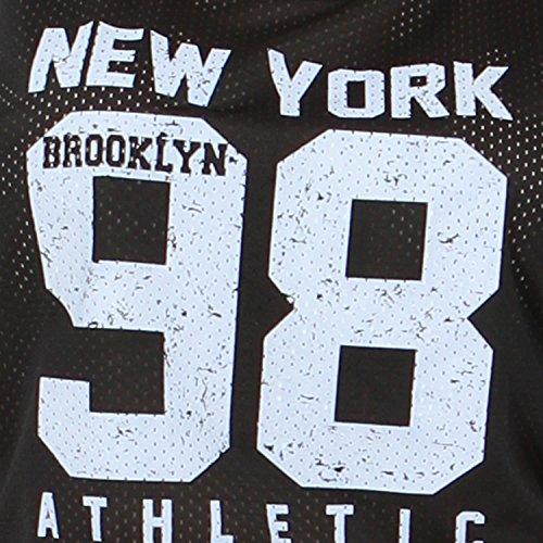 Neuer Frauen-Baseball-Crop Hoch Niedrig Oberteile 36-42 Newyork 98 Black