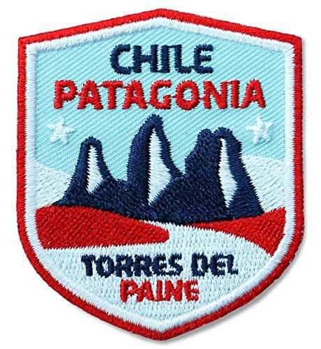 Argentinien Cap (Club of Heroes 2 x Chile Patagonien Abzeichen 51 x 60 mm/Patagonia Torres del Paine/Applikation Aufnäher Aufbügler Bügelbild Patch/für Kleidung Rucksack/Bergsteigen Klettern Tourenkarte Reiseführer)