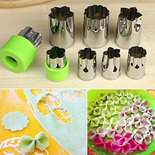 niceEshop(TM) Vegetable Cutter Shapes Set,Kids Mini Cookie Cutters Fruit Mold Presses Stamps Set (Including 8 Different Flower Shapes)