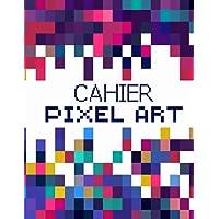 CAHIER PIXEL ART: Grand format 120 pages vierges quadrillées  Carnet pixel art  Cahier de dessin ou carnet de notes…