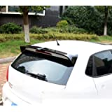 AniFM Rear Trunk Spoiler for VW POLO 2010-2017, Bumper Spoiler Carbon Fiber Spoiler Rear Trunk Roof Trim Lip Spoiler…