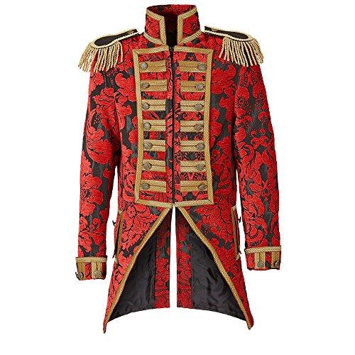 Widmann 59361 - Herren Frack Jacquard Parade kostüm, S (Herren Dompteur Kostüm)