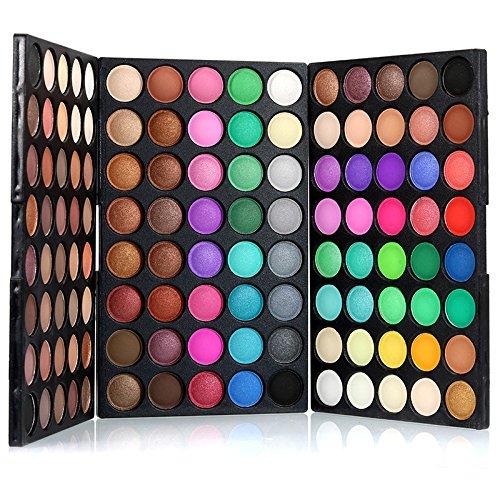Bluelover popfeel 120 colori mini palette ombretto set kit matte glitter shimmer cosmetici trucco portatile degli occhi