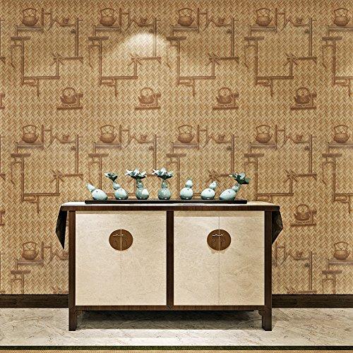 HANMERO reg; Papel pintado autoadhesivo imitación textura tejida para muebles vinilos pegatinas de pared para Cocina/escritorio/puerta/armario, color amarillo