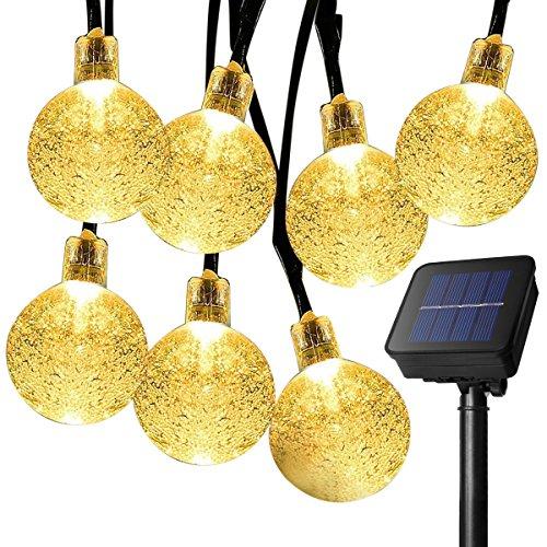 Ankway solar Globo luces de la secuencia blanco caliente  luces de hadas a prueba de agua de 16 pies 30 LEDs