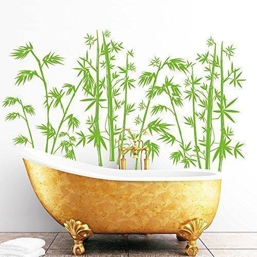 """Wandtattoo Loft """"Wandaufkleber Bambus (Bambuseae)"""" - Wandtattoo / 49 Farben / 3 Größen / lindgrün / 55 x 90 cm"""