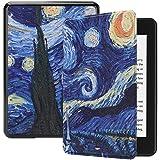 غطاء حماية من جلد البولي يوريثان لجهاز أمازون Kindle Paperwhite 4، غطاء حماية ذكي - 6 انش