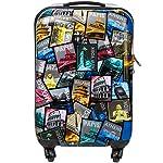 Boardcase Handgepäck Tasche - Polycarbonat Boardcase Hartschale Koffer Trolley Reisetrolley - 30L - ca. 2,4 KG (Bunt)