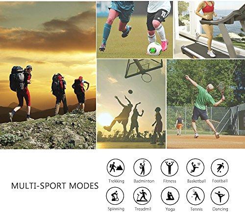 Monitor de ritmo cardíaco JoyGeek  pulsera inteligente  monitor de ejercicio  reloj inteligente con control de música / cámara  monitor de sueño  contador de calorías de podómetro  GPS Deportes y llamada / recordatorio de SMS para iPhone 6 / 6 plus / 7 / 7 plus Samsung S7 / note 7 / S8