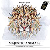 #4: Majestic Animals: Colouring Books for Adults with Tear Out Sheets (Adult Colouring Book)