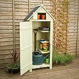 Christow Slim Garden Shed Wood Outdoor Storage Sentry Box With Lockable Door