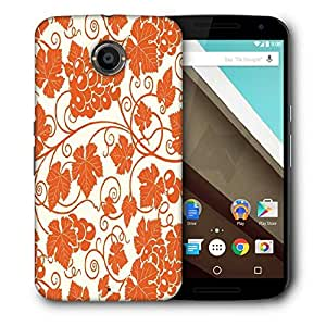 Snoogg Grape Leaves 2850 Designer Protective Back Case Cover For Motorola Nexus 6