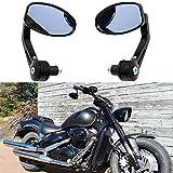 Ein Paar Motorrad Spiegel Lenkerendenspiegel Lenkerspiegel quad Rückspiegel für suzuki Honda Kawasaki Yamaha 7/8 22mm Universal Schwarz