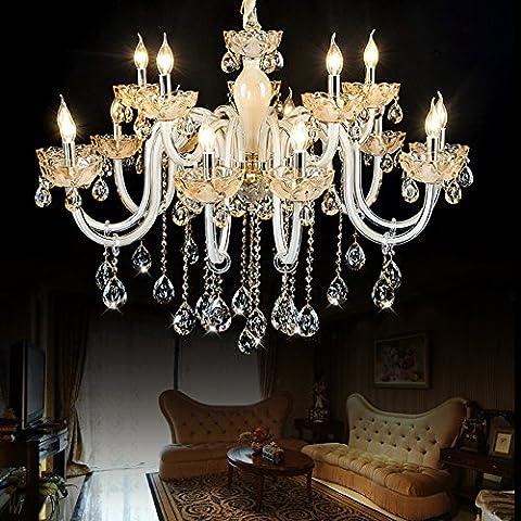 BBSLT Verre cristal 6 européenne LED chandelier bougie