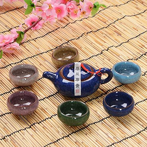 Teeservice aus Keramik mit Eiskratzer und Glasur, 7 Stück 14: Sapphire Blue Mix Cup