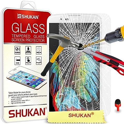 LG K10 Temperato Bicchiere Cristallo Pulire LCD Schermo protettore Guardia & Lucidatura Stoffa ROSSO 2 (Telefono Guardia Schermo Custodia In Silicone)