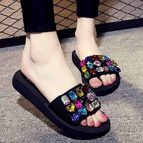 Estate Sandali Sandali e pantofole femminili estivi Casual pantofole Scarpe da spiaggia con molti colori Colore / formato facoltativo #8