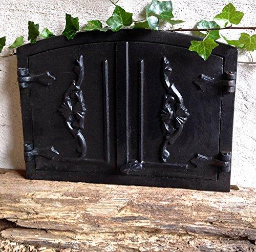 Antikas - puerta horno leña antiguo - puerta de hierro fundido estufa...