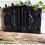 Antikas - puerta horno leña antiguo - puerta de hierro fundido estufa pizza - pu