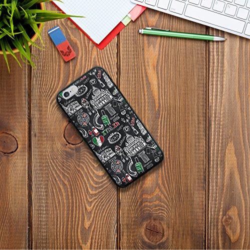 iPhone 6 6S Hülle, WoowCase Handyhülle Silikon für [ iPhone 6 6S ] Herz Liebe Satz - I Love You To The Moon And Back Handytasche Handy Cover Case Schutzhülle Flexible TPU - Schwarz Housse Gel iPhone 6 6S Schwarze D0345