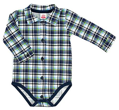 Makoma Bambino Body A Maniche Lunghe Body Shirt 030402-Verde (mesi-2anni) Blue 9-12 Mesi
