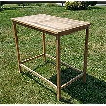 TEAK Bartisch Bistrotisch Stehtisch 120x70cm Holztisch Gartentisch Garten  Tisch Holz Modell: BIMA 120x70 Von
