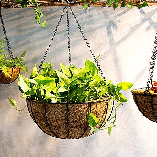 Ganeep Suspendus Coconut Pot de fleurs de légumes Pot panier Liners Jardinière Jardin Decor Fer Art Pot (Taille : 20CM)