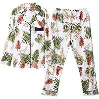 DUKUNKUN Pantalones De Cintura Elástica De Algodón De Manga Larga para Mujer Pantalones De Homewear Pijamas De Mujer-XL