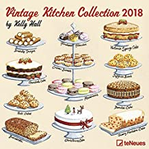 2018 Vintage Kitchen Collection Calendar- teNeues Grid Calender - Lifestyle Calendar - 30 x 30 cm