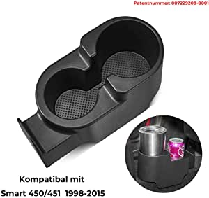 Issyzone Car Drink Holder Front Cup Holder With 2 Drink Holders Black Auto