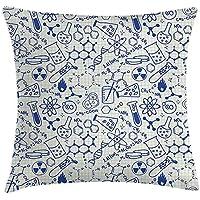 deyhfef Green Globe North America Map Yellow Mexico Decorative Pillow Case Home Decor Square 18x18 Inches