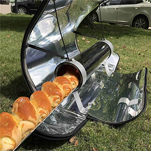 InLoveArts Solarkocher Gepäcktyp Solarkocher Tragbarer Parabol-Solarkocher mit höherer Effizienz Maximale Temperatur: 550 ° F (288 ° C)