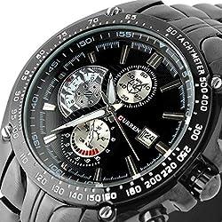 SSITG Curren Mens Watch Strap Watch Quartz Watches Watch Sport Stainless Steel Bracelet Watch