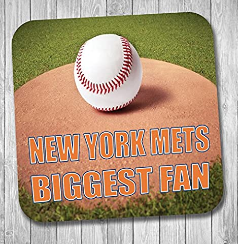 New York Mets Biggest Fan Baseball Coaster–Cadeau d'anniversaire/cadeau