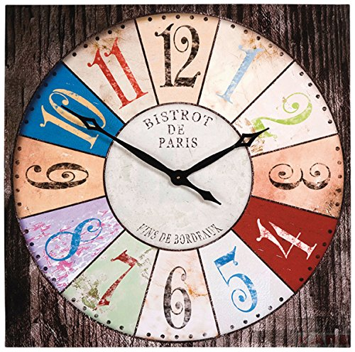 KARE Design - Reloj de pared (80x80cm), diseño de bistró