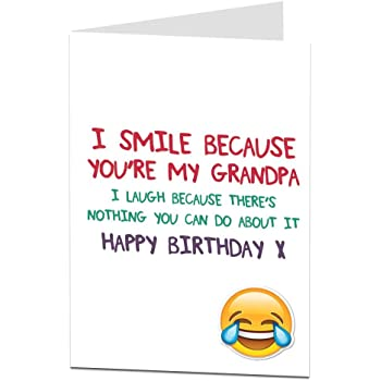 Funny Happy Birthday Card For Grandpa