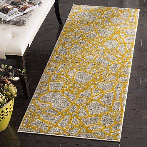 Safavieh Porcello Collection prl7737C hellgrau und Gelb Rund Bereich Teppich Modern 2'4