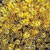 #7: Czech O-Beads 3.8 x 1 mm Topaz 8.1g