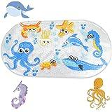 CODIRATO Alfombrilla de Baño Antideslizante para Niños Alfombrillas para Bañera con Motivos del Océano Alfombrillas de Ducha