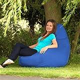 Designer Recliner Gaming Bean Bag BLUE - Waterproof Indoor & Outdoor Beanbag Chair by Bean Bag Bazaar®