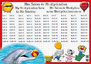 Aris editions sous main et set de table ducatif 30x42 plastifi effa able tables - Logiciel educatif tables de multiplication ...
