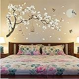zzlfn3lv 187 * 128 cm Tamaño Grande Árbol Pegatinas de Pared Flor de Aves Decoración para el Hogar Fondos para la Sala de Est