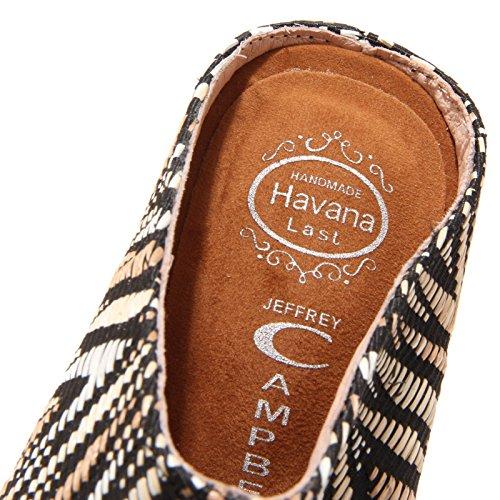 5816O sabot sandalo zeppa JEFFREY CAMPBELL sandalo donna shoe woman Nero