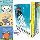 Fiona Watt's (That's Not My Kitten, That's Not My Fox, That's Not My Bunny) Collection 3 Books Bundle Gift Wrapped Slipcase Specially For You