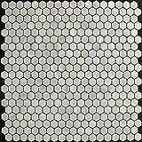 Perlmutt Mosaik Fliesen Fluss Bett natur Pearl Shell Mosaik Sechseck Pure weiß Tabelle