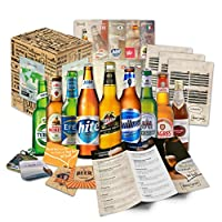 9 BIÈRES DU MONDE ENTIER + EMBALLAGE CADEAU + BROCHURE D'INFORMATION - tout pour la fête des pères. L'idée cadeau parfaite pour les amateurs de bière, y compris un pack original!  Vous recevrez un billet aller simple pour un voyage à travers les sav...