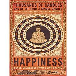 "Pyramid International - Lienzo decorativo, diseño de Buda con texto ""Thousands of Candles"""