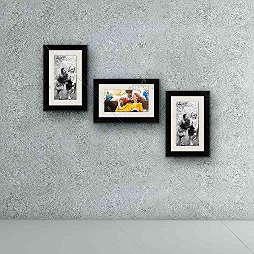 ArtzFolio Wall Photo Frame Black 6x10inch;Set of 3 PCS with Mount