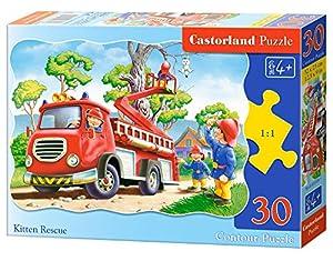 CASTORLAND Kitten Rescue 30 pcs Contour Puzzle 30 Pieza(s) - Rompecabezas (Contour Puzzle, Dibujos, Preescolar, Niño/niña, 4 año(s), Interior)